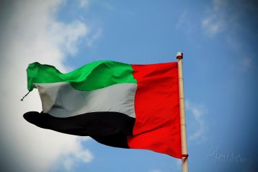 UAE Flag in Fujairah by amirajuli