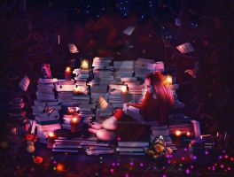 Book Harvest by Renata-s-art