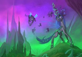 Queen of the changelings by envidia14