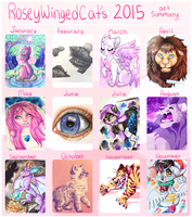 2016 Summary of Art by RoseyWingedCat