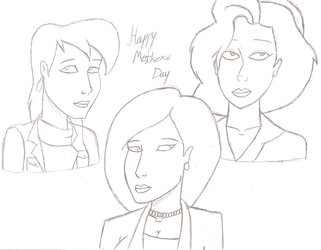 Max's mom, Helen and Annie. by JimmyTwoTimes2K9