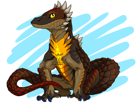 Scaley [Speed-Draw on Youtube] by DarkmaneTheWerewolf