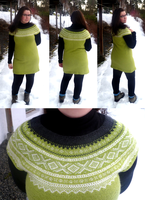 Green Marius tunic by KnitLizzy