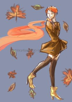Autumn lady by 0127