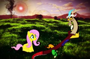Fluttershy and Discord by Fabulous-Foxy