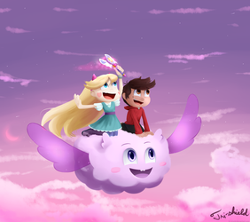 Flying with the clouds by Tri-shield