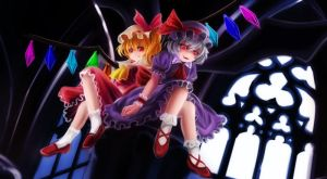 Vampiric Sisters: Flandre X Remilia by AmberClover