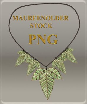 STOCK PNG leaf necklace2 by MaureenOlder