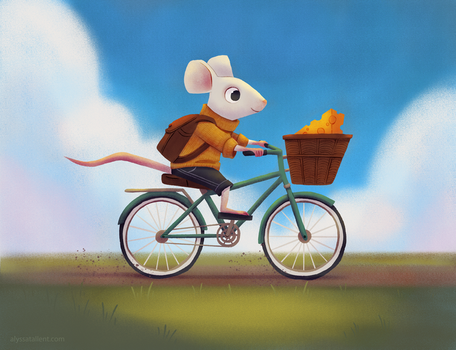 Mouse on a Bike by AlyssaTallent