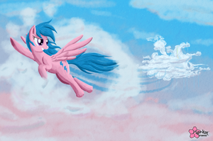 Highway Trough Clouds by CloudDG