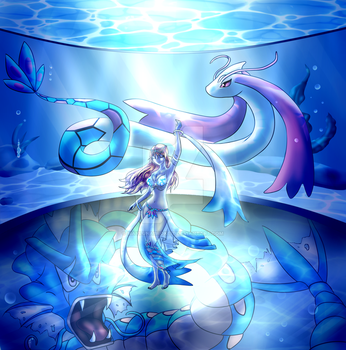 Water Gym Leader: Rin by MaylunaBrokeit