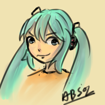 Miku deviant id by Absolaaron