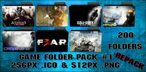Game Folder Pack 1 200 Folders by floxx001