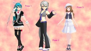 MMD Pose Pack by Aisuchuu