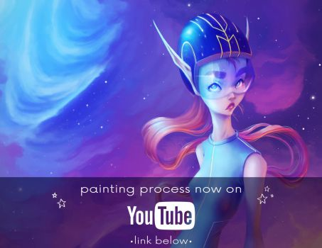 Digital painting process, YouTube channel opening! by MKmiec