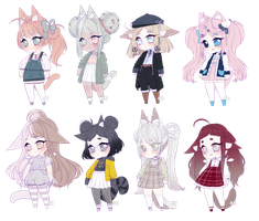 chibi adoptables [ closed ] by MikkuAdopts