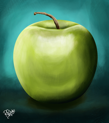 Drawing a Day - Apple Study by SyKoticOrKa