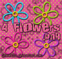 4 Flowers .png by Loreenitta