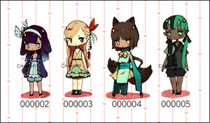 [OPEN 2/4] Set Price Adopts (000002 - 000005) by Citreolin