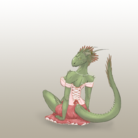 Lusty Argonian Maid color job by CakeBandit