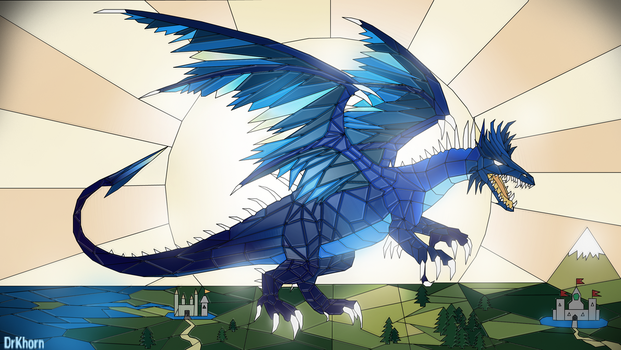 Azure dragon by DrKhorn
