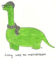 Hipstersaurus by TheSimpsonsFanGirl