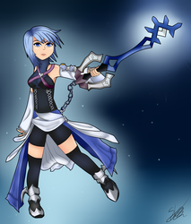 [GAME ART] Aqua Kingdom Hearts Birth By Sleep by Seb-LK-585