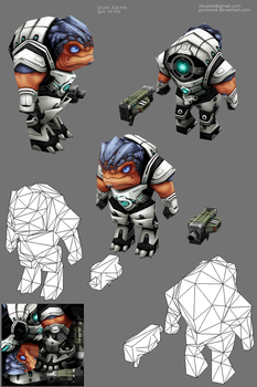 Lowpoly Grunt by Pyroxene