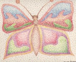 Pointillismish Butterfly by itsayskeds