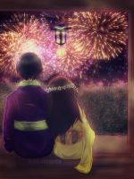 Commission | OC!Philippines x Japan | Fireworks by Prominessence