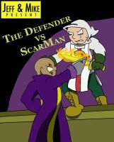 Scarman vs the Defender cover by visdviking