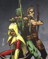 Green Arrow and Friends by lroyburch