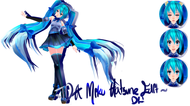 [500 Watchers Gift] TDA 'graceful' Miku Edit(DOWN) by Pocky-Poison