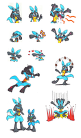 Vincent the Lucario by KawasakiBlitzer