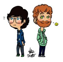 Rhett and Link Chibis by StellaPollet