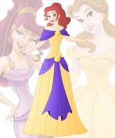 disney fusion: Belle and Meg by Willemijn1991