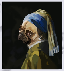 Petey with a Pearl Earring by Boddbby