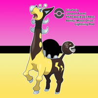 #197 Girafarig (Joseon Form) by locomotive111