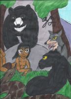 The Man Cub is surrounded by freinds by TheZackBurg
