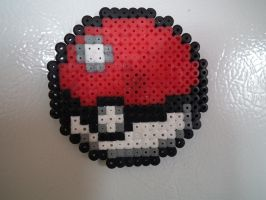 8-bit Pokeball Magnet by blargofdoom