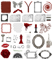 True Blood / Vampire: Word Art + Clear Cut PNG 12 by Riogirl9909stock