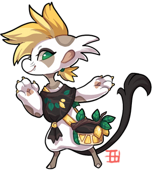 #487 Blessed Floral Bagbean w/m - Lemon Tree by griffsnuff