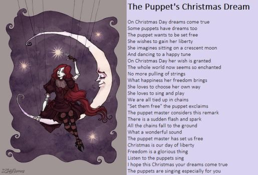 The Puppet's Christmas Dream by demonrobber
