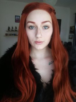 Makeup test for Sansa Stark cosplay by TynaCosplay