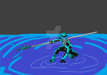 Strider doing water stuff by RamenDriver