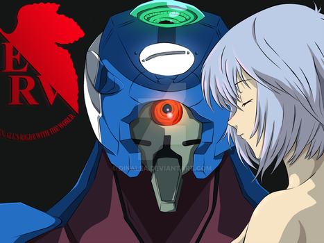 NGE - First Child and her EVA by dinalea