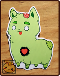 Stickers: Zombie Llama by Christina-LY