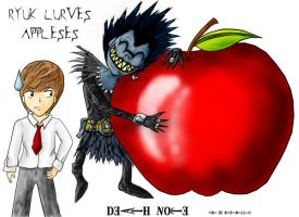 .:Ryuk LURVES Appleses:. by Maximillio