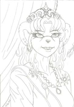 Queen Mother (rough pencil draft) by midnight21