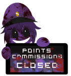 Purple Guy Points Commissions CLOSED Stamp by InkCartoon